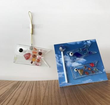 ワークショップ ガラスの鯉のぼり